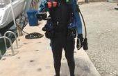 Seguridad buceo, meterse en el agua