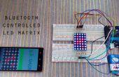 Bluetooth pantalla de matriz de punto con Arduino