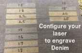 Configurar el láser para grabar del dril de algodón