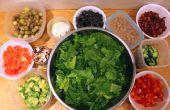 Hacer ensaladas personalizadas por delante