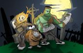 Monstruos de Halloween cementerio