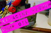 Cambiar aceite de la bomba de vacío de refrigeración.