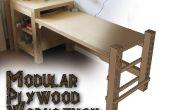 Banco modular de madera contrachapada