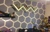 Hexágono pared habitación makever
