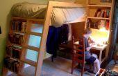 Loft camas con escaleras de biblioteca