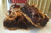 Brownies de Nutella pretzel