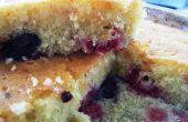 Frambuesa y arándano torta llovizna de Lima