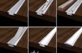 Perfiles de aluminio para LED luz de tira