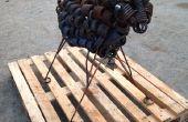 Reciclado scrap metal oveja / / Mark II