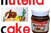 Pastel de chocolate Nutella con molde de gelatina