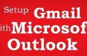 Cómo agregar Gmail cuenta en Microsoft Outlook