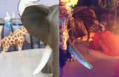 De un Simple Animal plástico a una criatura de calavera de azúcar de Inframundo (elefante)