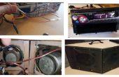 BOOMBOX DIY (reutilización de estéreo de automóvil)