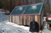 Horno solar - con panel solar y revisado para la circulación correcta de aire