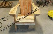 Silla de Adirondack de madera de la plataforma