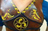 Ajuste personalizado cuero armadura mama placa celta edición