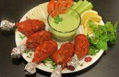 Tandoori de pollo al horno con salsa de Yogurt de cilantro