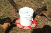 Alimentador de pollo $6 gravedad alimentado automático