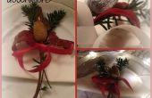 Decoraciones para la mesa Navidad DIY