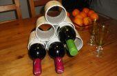Estante del vino del tubo