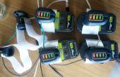 Utilizando powertool baterías como una fuente de alimentación genérica para otros proyectos