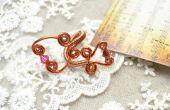 BRICOLAJE se enrolle alambre envuelto anillos para mujeres