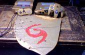 Mano tallada escudo Deku y personalizado pintado SNES y N64