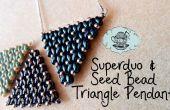 Super Duo y semilla grano triángulo colgante Tutorial ¦ la esquina de arte