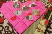 Corazón/portafotos de origami de San Valentín