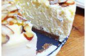 Nueva York estilo tarta de queso con almendras y una corteza de Spekulatius