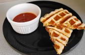 Waffled bolsillos de Pizza