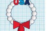 USA bolas de nieve ornamento