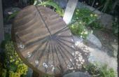 Reloj de sol de madera