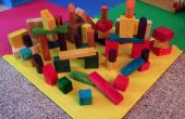 Bloques de madera de color