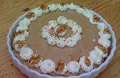 Irresistible tarta de crema de plátano