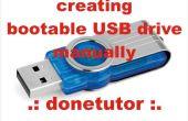 Cómo crear una unidad USB de arranque sin usar cualquier Software
