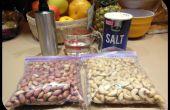 Anacardos y los cacahuetes de la asación