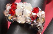 Fácil 3 flor cristal Ring