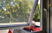 Fijación de una manivela rota en una ventana de toldo