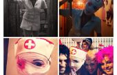 Sillent Hill fácil traje de enfermera terror Disfraz Facil Enfermera terror Hallowen carnaval