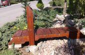 Suspendido puente jardín