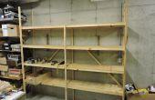 Tomar diferentes en madera contrachapada rápida, barata y estantes de 2 x 4
