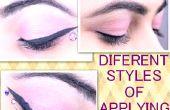 Diferentes estilos de aplicar delineador de ojos