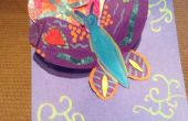 Tarjeta de flor de la mariposa