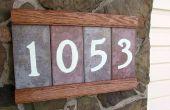 Hecho a mano placa de dirección con números brillantes y compartimiento secreto!