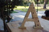 Letras de madera de la plataforma