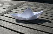 ¿Hacer un barco flotante de papel