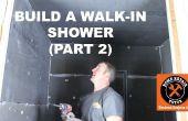Cómo construir una ducha walk-in (parte 2: instalación en pared de Wedi)