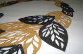 Collar hojas de cuero