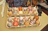 Tie-dyed huevos de Pascua